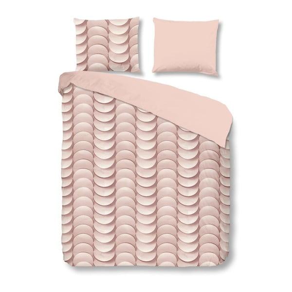 Różowa bawełniana pościel jednoosobowa Good Morning Emerged, 140x200 cm