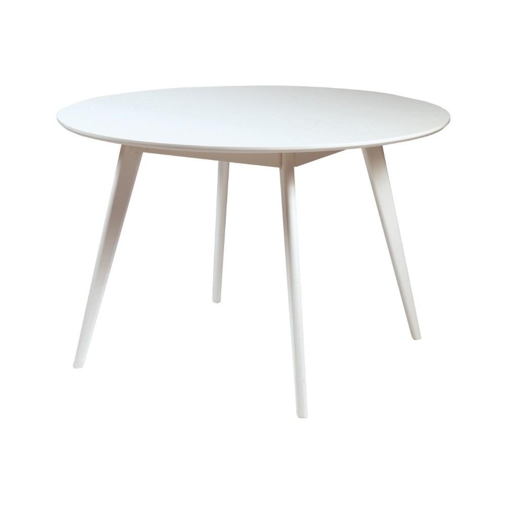 Biały stół do jadalni z drewna brzozowego Rowico YuRAi , ∅115cm