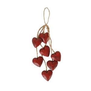 Czerwona dekoracja wisząca Antic Line Red Heart