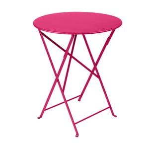 Różowy składany stół metalowy Fermob Bistro