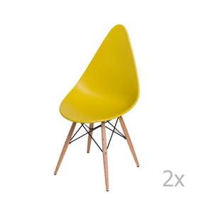 Zestaw 2 żółtych krzeseł D2 Rush DWS