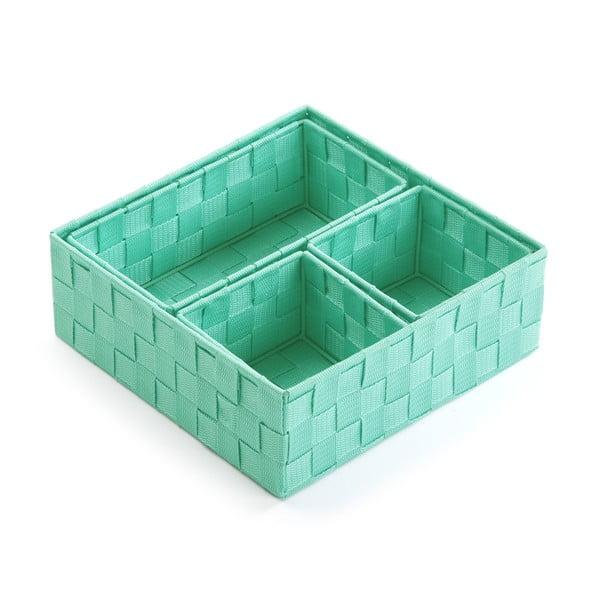 Zestaw 4 koszyków Versa Green Pastel