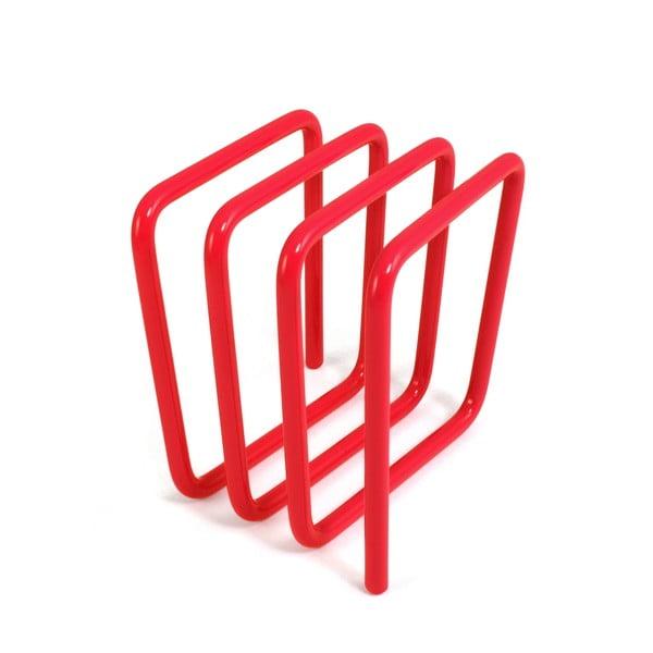 Czerwony stojak na listy Letter Rack