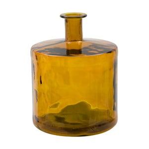 Pomarańczowy wazon ze szkła z recyklingu Mauro Ferretti Lop, wys.45cm