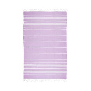 Fioletowy ręcznik hammam Kate Louise Classic, 180x100 cm
