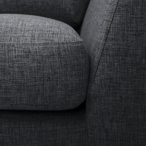 Antracytowa sofa z szezlongiem po lewej stronie Vivonita Monroe
