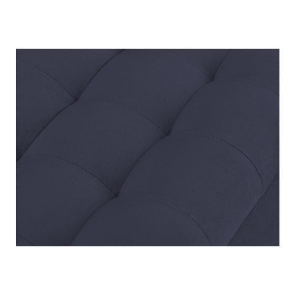 Ciemnoniebieska ławka tapicerowana ze schowkiem Windsor & Co Sofas Nova, 180x47 cm