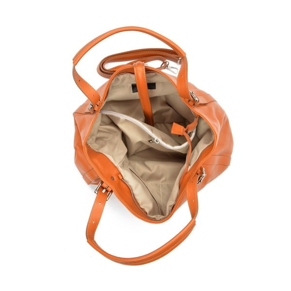 Brązowa torebka skórzana Carla Ferreri Eva