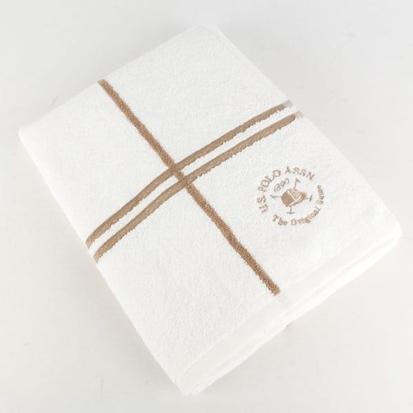 Ręcznik U.S. Polo Assn. Bath Towel White and Gold, 70x140 cm