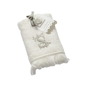 Ręcznik z inicjałem S, 30x50 cm