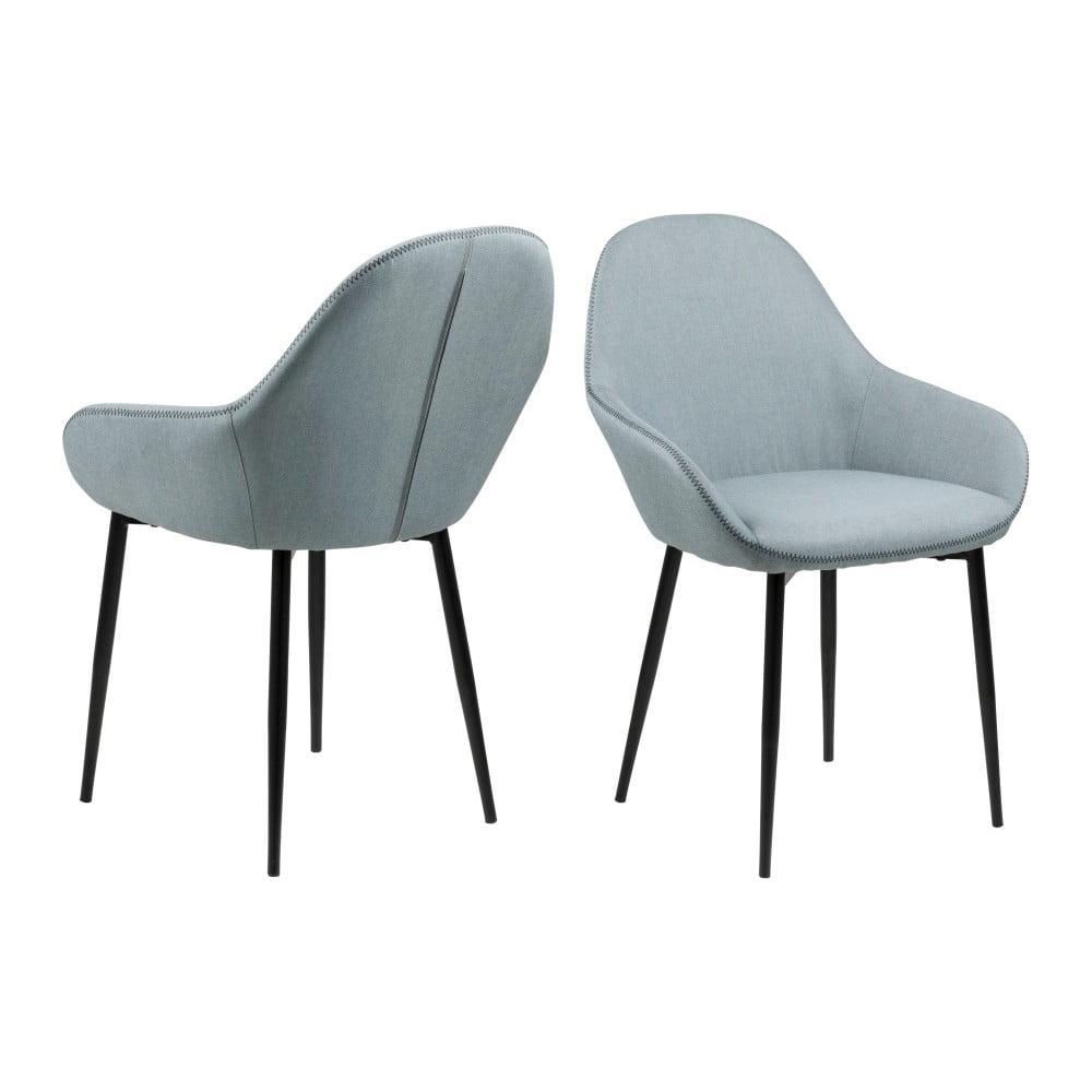 Zestaw 2 niebieskich krzeseł Actona Candis
