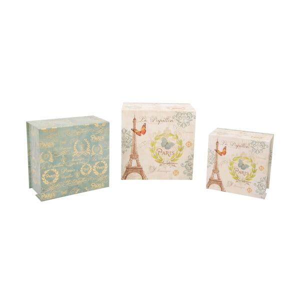 Zestaw 3 pudełek Papillon