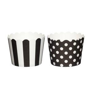 Zestaw 20 papierowych koszyczków do muffinek Black Sweetly Does It