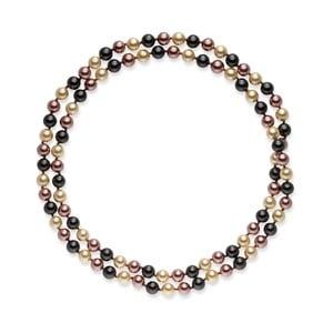 Ciemno-brązowy   naszyjnik z pereł Pearls Of London Mystic, 90 cm