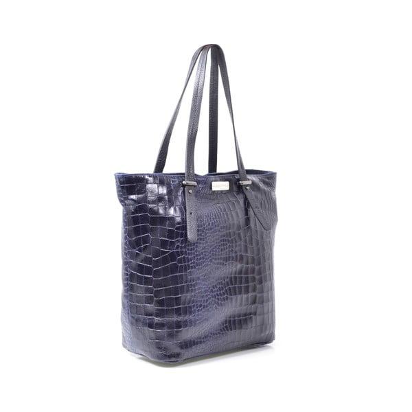 Skórzana torebka Irene, niebieska
