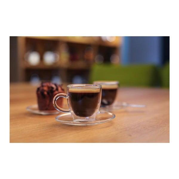 Zestaw 2 szklanek z podwójną ścianką Vialli Design Amo Espresso, 50 ml