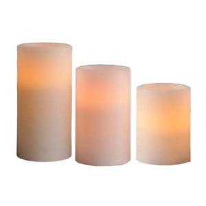 Zestaw 3 woskowych LED świeczek Wax