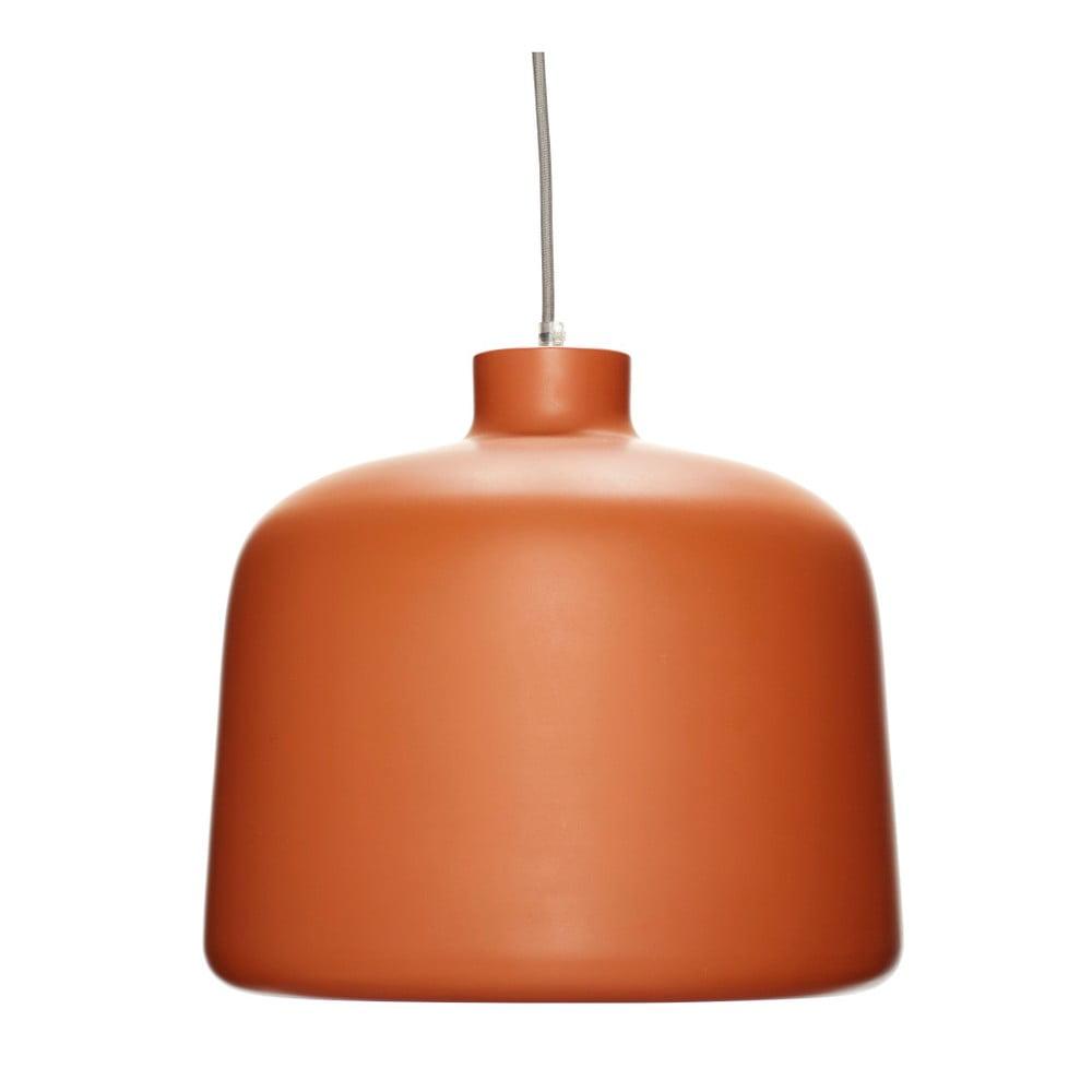 Pomarańczowa lampa wisząca Hübsch Muno