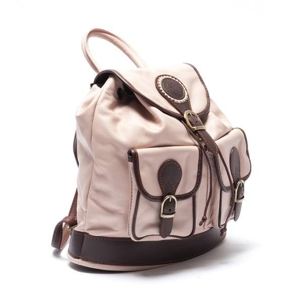 Skórzany plecak Mangotti 2038, różowy