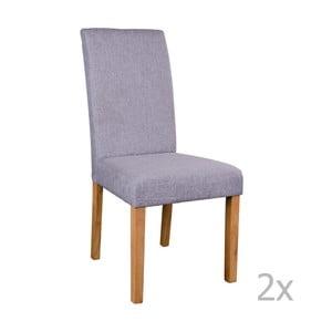 Zestaw 2 szarych krzeseł House Nordic Mora