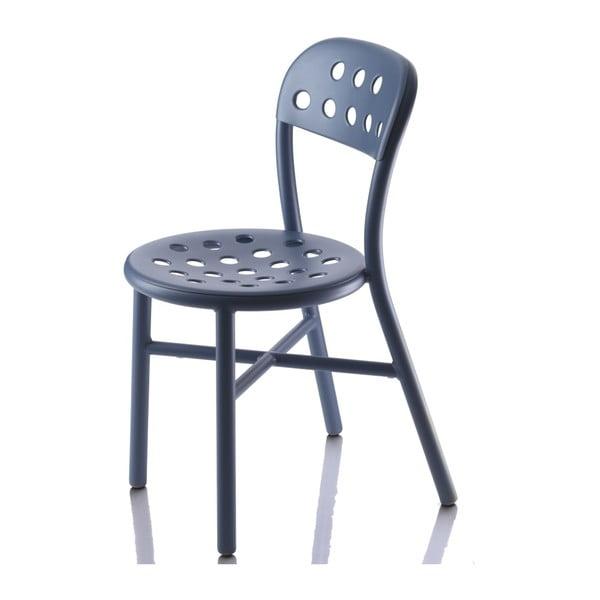 Krzesło Pipe, niebieskie