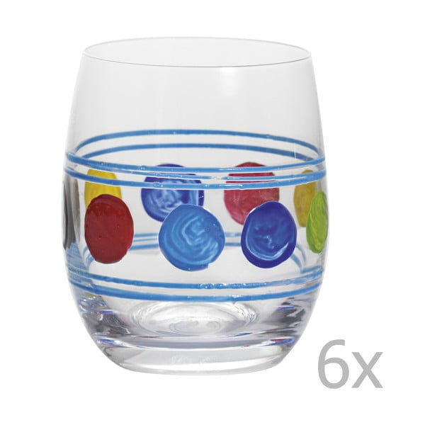 Zestaw 6 szklanek Summer Blue