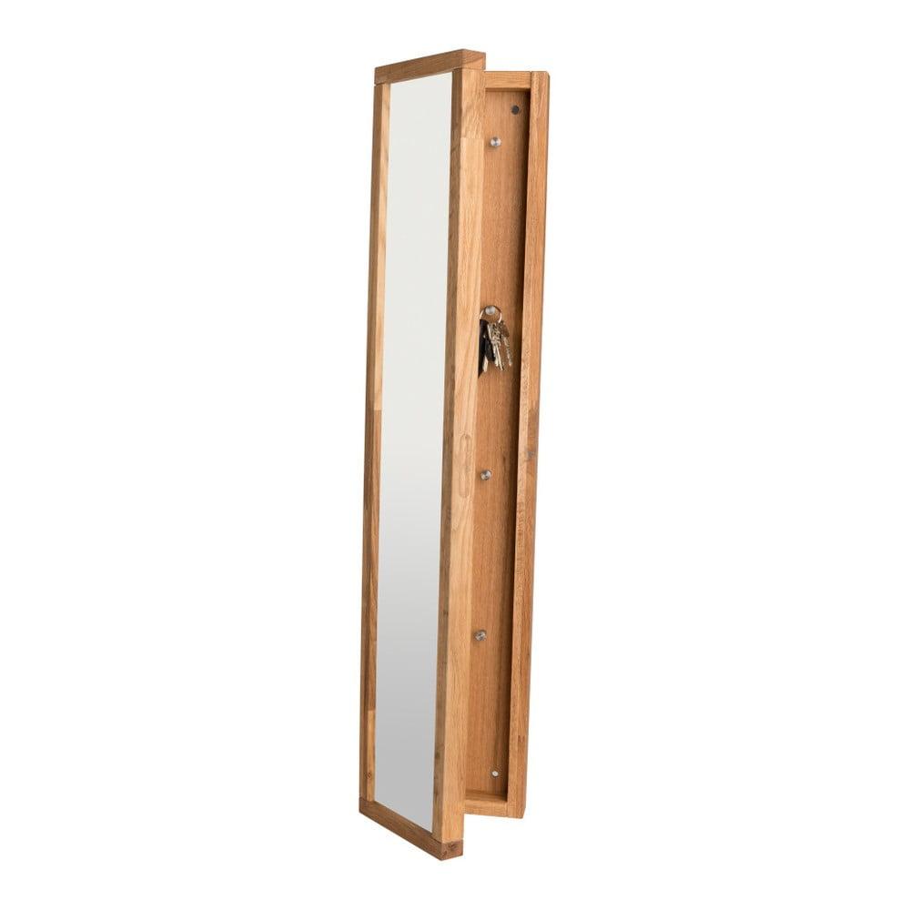 Szafka z drewna dębowego na klucze z lustrem Rowico Sol