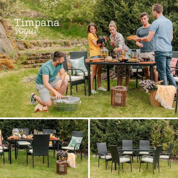 Zestaw mebli ogrodowych ze sztucznego rattanu Timpana Vogue