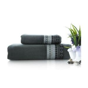 Zestaw 2 ręczników Golf Gray, 70x140 i 50x90 cm