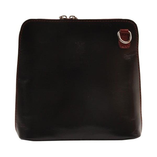 Skórzana torebka Vaire, czarna