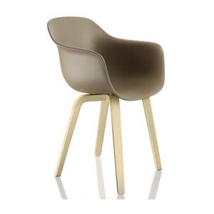 Beżowe krzesło z podłokietnikami Magis Substance