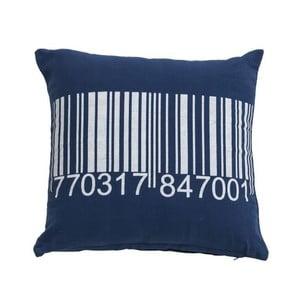 Niebieska poduszka Novita Bardcode, 45x45 cm