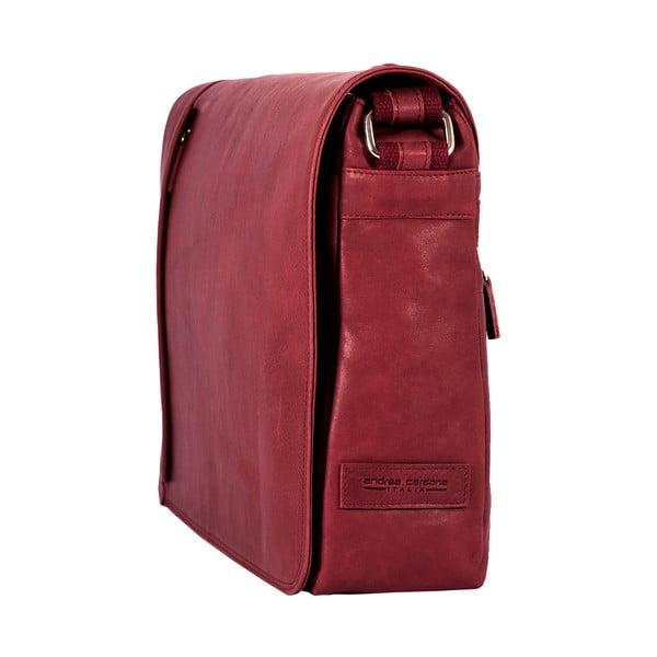 Męska torba listonoszka Vintage Bordeaux