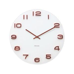 Biały zegar Present Time Vintage Numbers