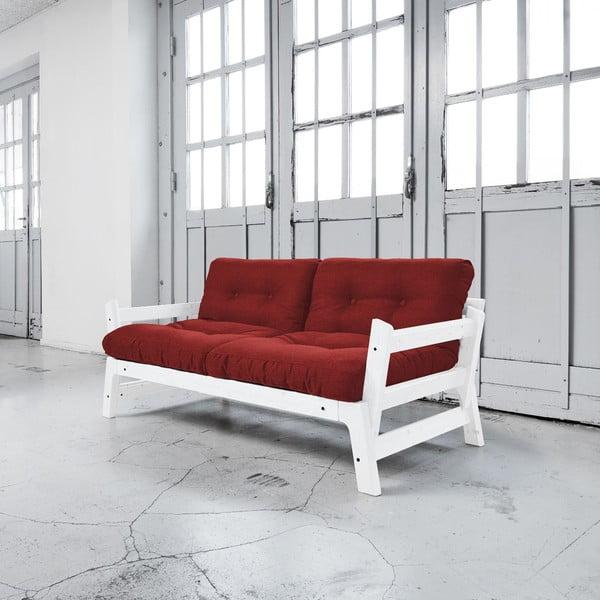 Sofa rozkładana Karup Step White/Passion Red