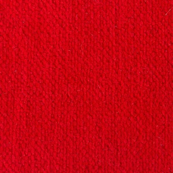 Czerwona poduszka do siedzenia wypełniona piłeczkami do masażu Linda Vrňáková Bloom, Ø 65 cm