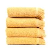 Zestaw 4 żółtych ręczników bawełnianych Casa Di Bassi Sun, 50x90 cm