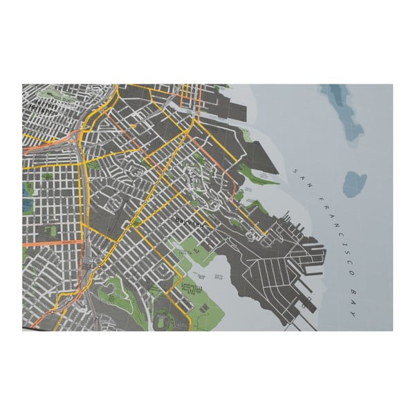 Mapa San Francisco The Future Mapping Company Street Map, 100x70 cm