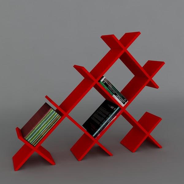 Biblioteczka Discuss Book Red, 22x118,1x94,5 cm