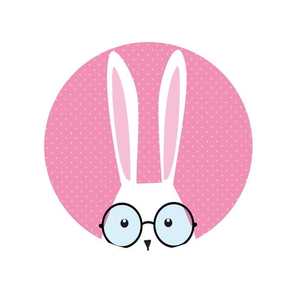 Zestaw 2 stolików Hi Bunny, 35 cm + 49 cm