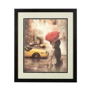 Obraz Couple Under Umbrella, 60x71 cm