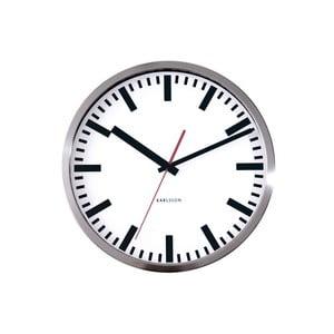 Szary zegar ścienny Present Time Station, mały