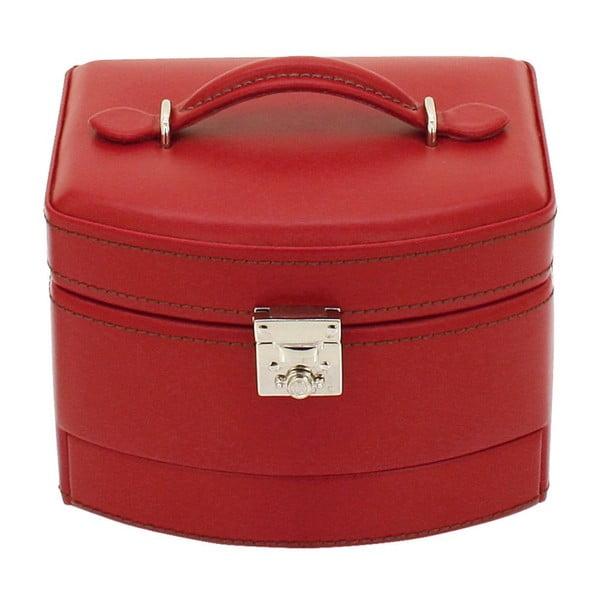 Czerwona szkatułka Friedrich Lederwaren Cordoba, 16x13 cm
