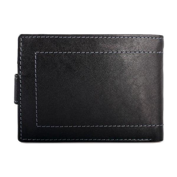 Skórzany portfel Lois Black, 10x7,5 cm