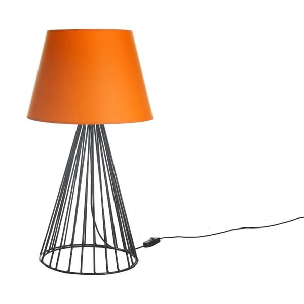 Lampa stołowa Wiry Orange/Black