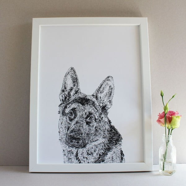 Plakat Roger the German Shepherd, 30x40 cm