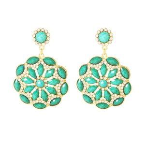 Kolczyki Eastern Peony Turquoise