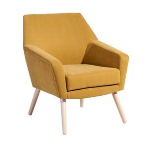 Żółty fotel Max Winzer Alegro Velor