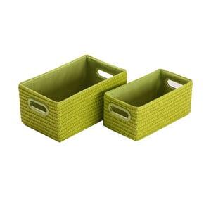 Komplet 2 zielonych pudełek Versa Verdos