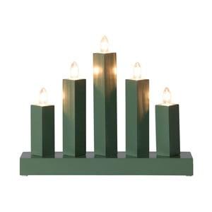 Zielony świecznik LED Rak